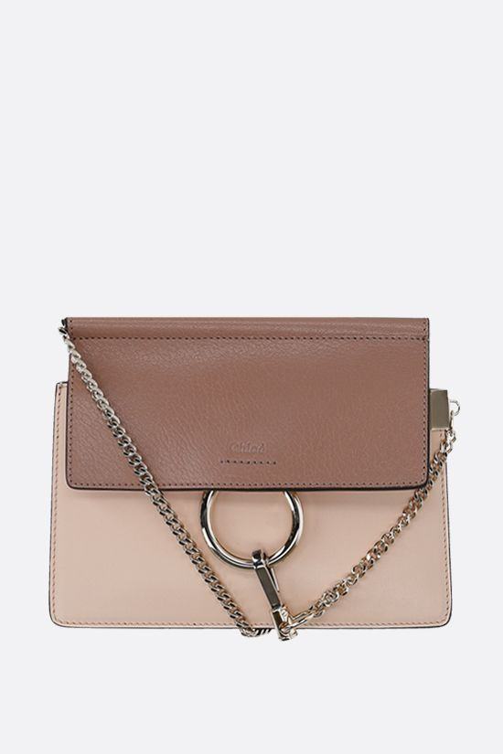 CHLOÈ: Faye mini smooth and grainy leather crossbody bag_1