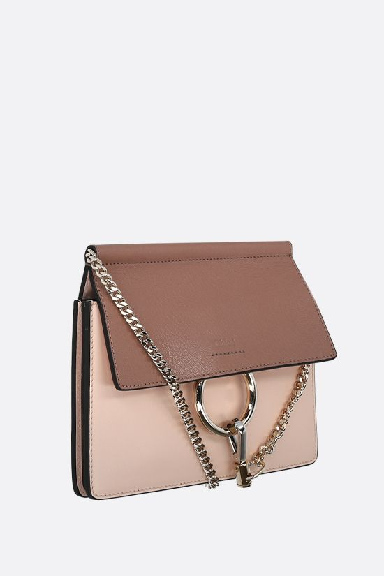 CHLOÈ: Faye mini smooth and grainy leather crossbody bag_2