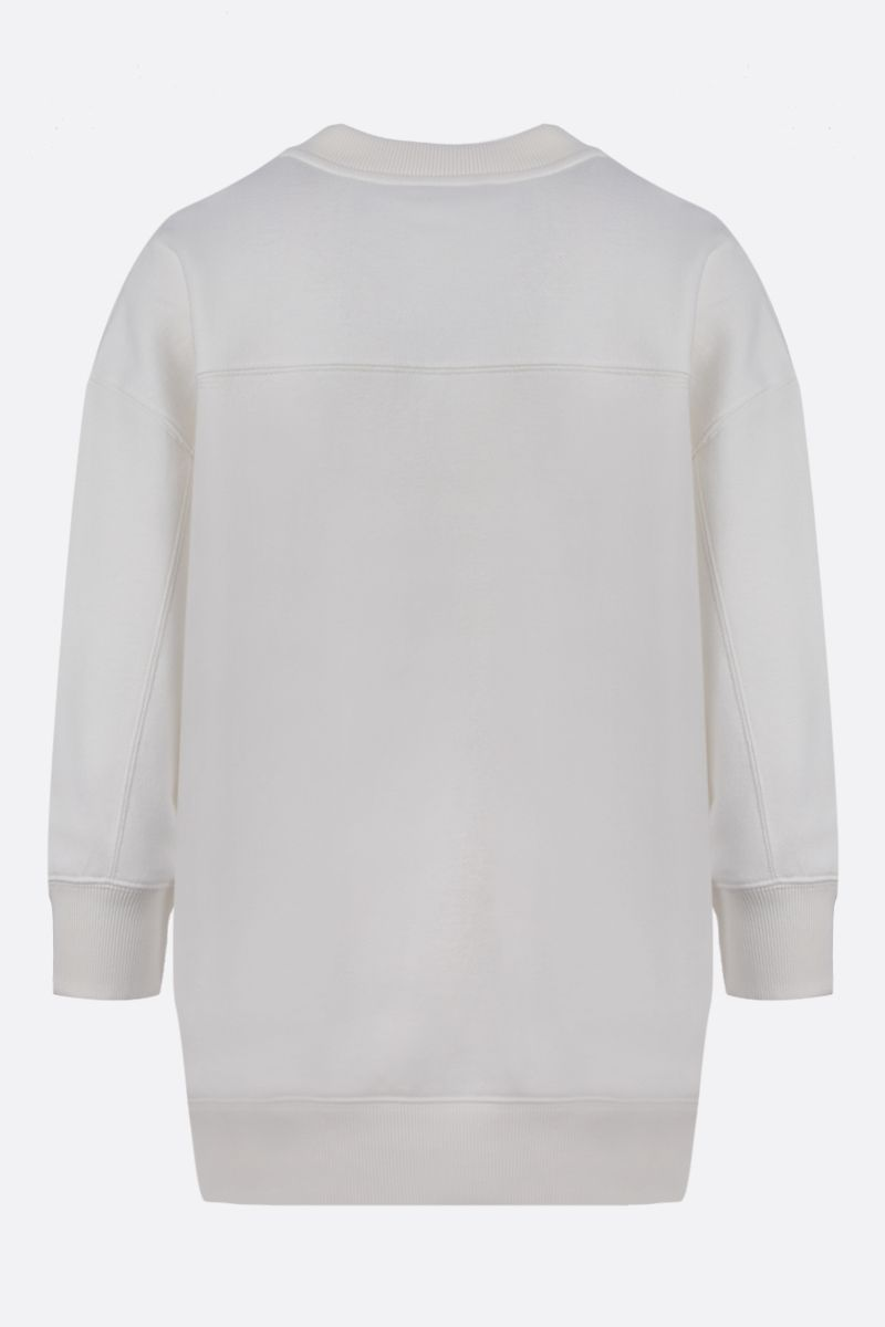 CHLOÈ: A system of Chloè obsessions print cotton sweatshirt Color White_2