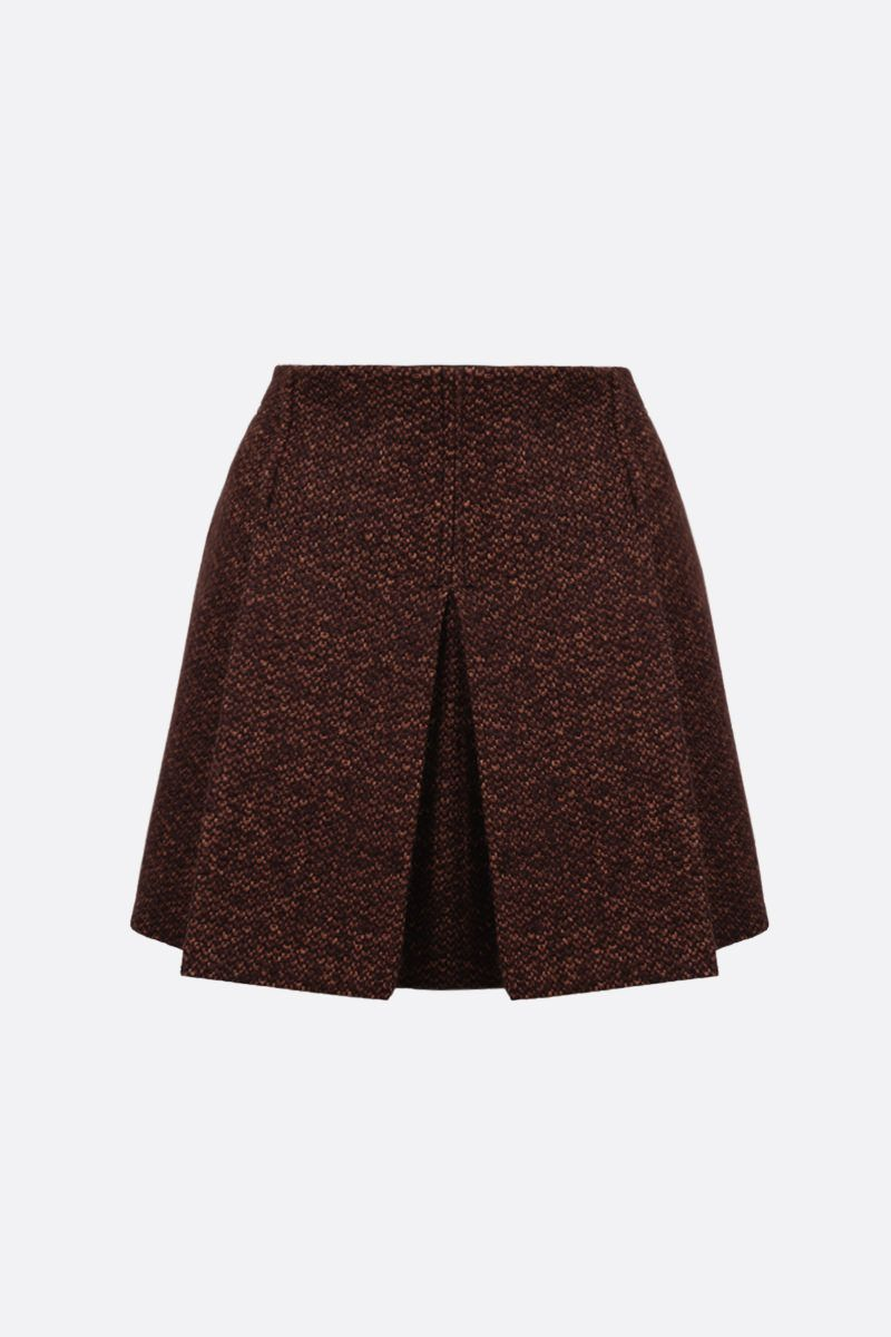 CHLOÈ: tweed darted miniskirt Color Brown_1