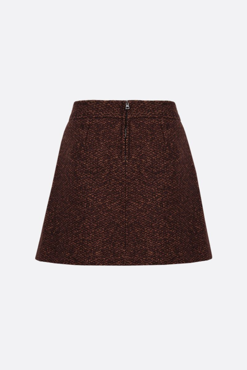 CHLOÈ: tweed darted miniskirt Color Brown_2