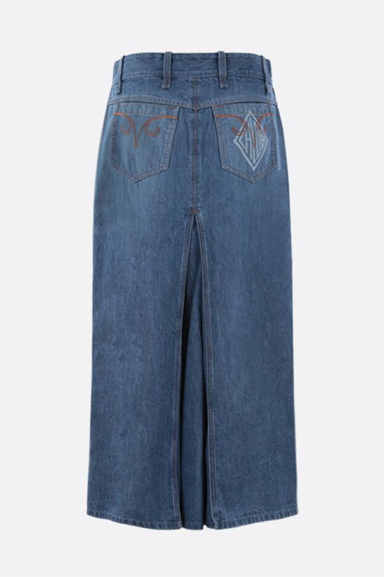 CHLOÈ: A-line denim skirt Color Blue_2