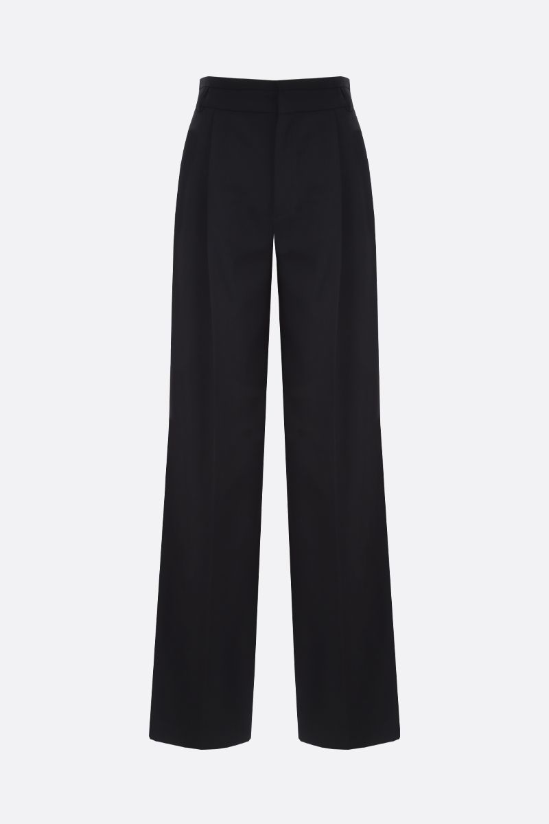 CHLOÈ: stretch wool flare pants Color Black_1