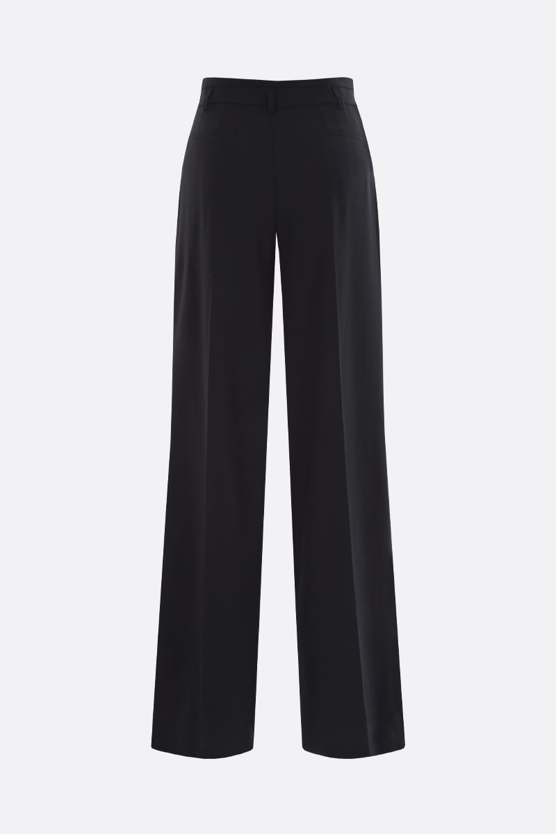 CHLOÈ: stretch wool flare pants Color Black_2