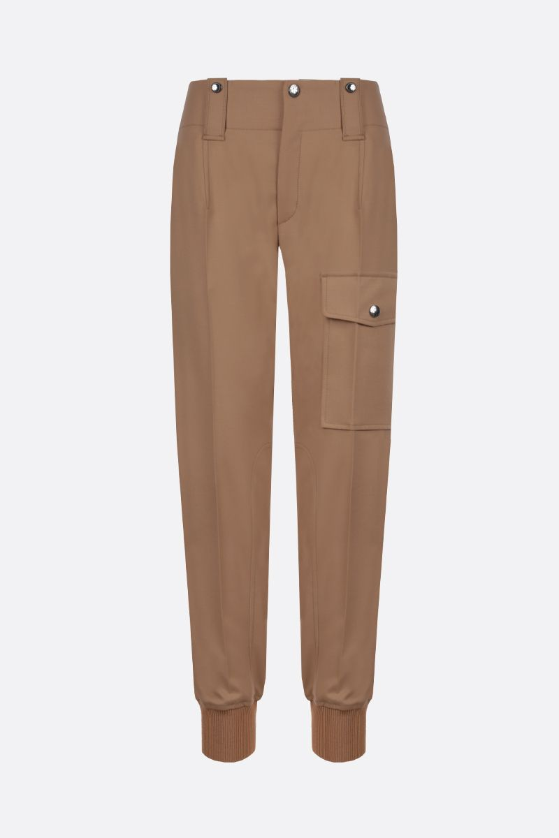 CHLOÈ: flannel straight cargo pants_1