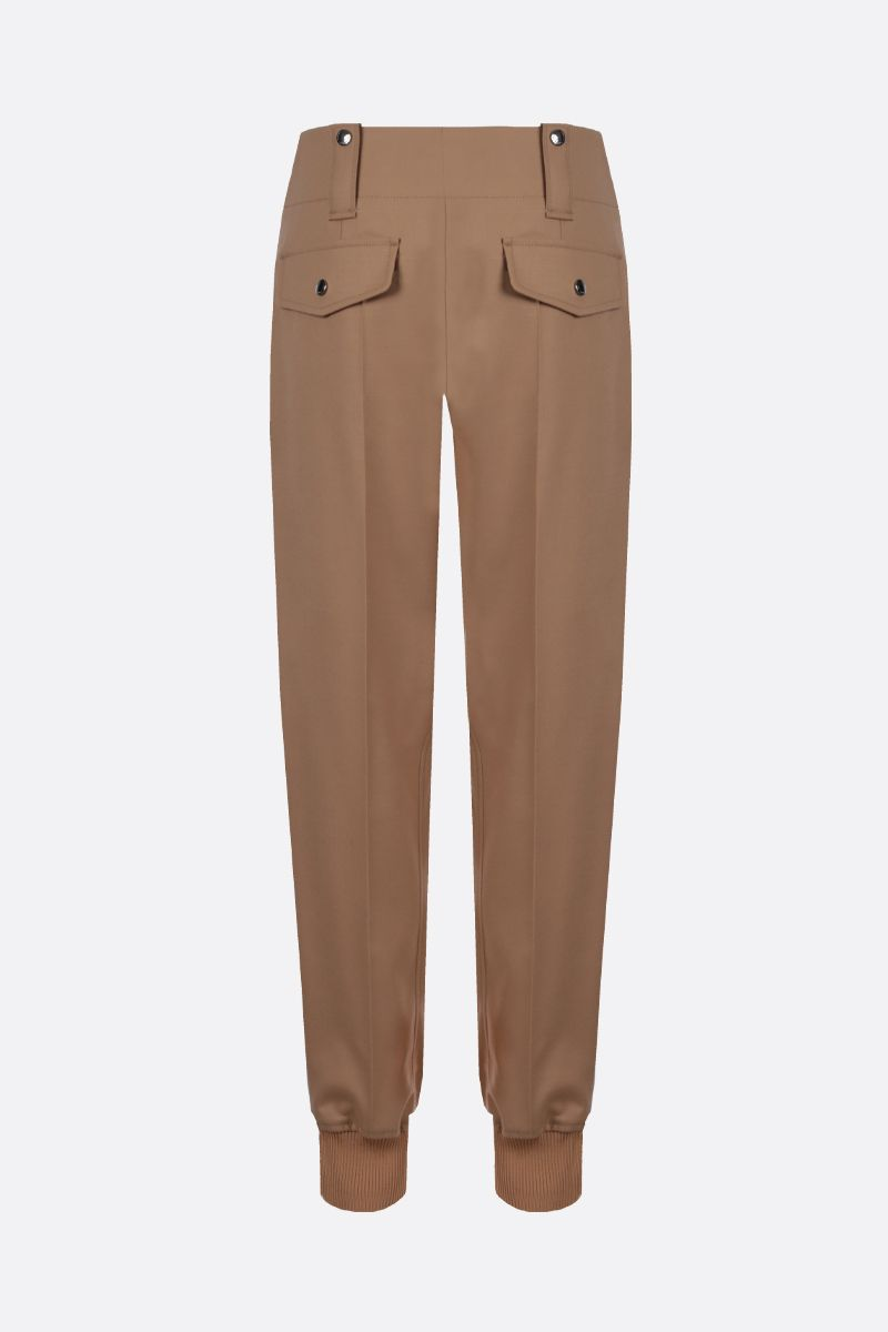 CHLOÈ: flannel straight cargo pants_2