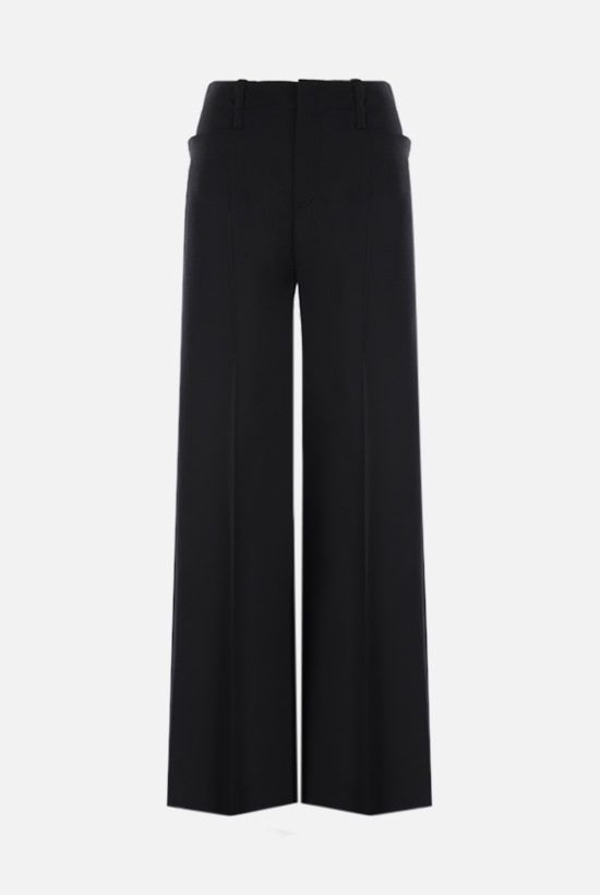 CHLOÈ: stretch wool flared pants Color Black_1