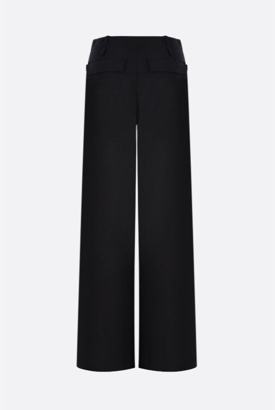 CHLOÈ: stretch wool flared pants Color Black_2