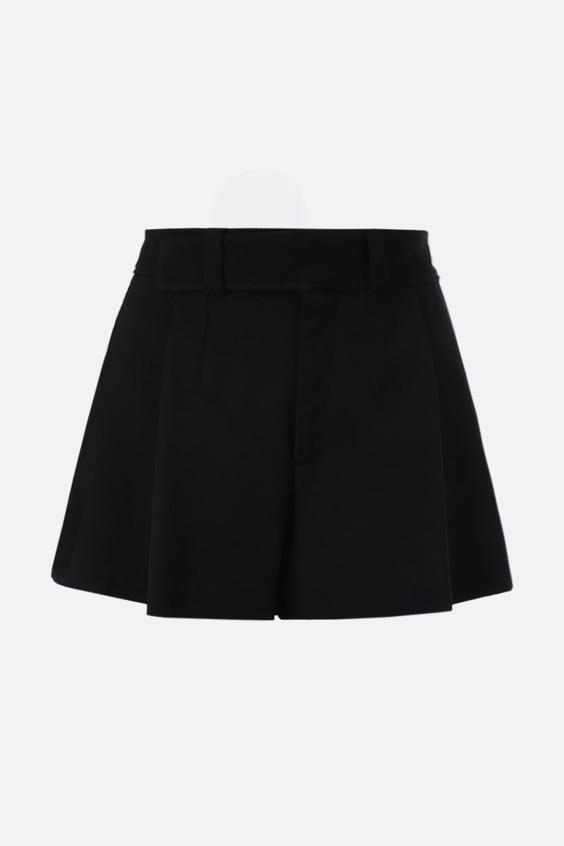 CHLOÈ: crepe darted shorts Color Black_1