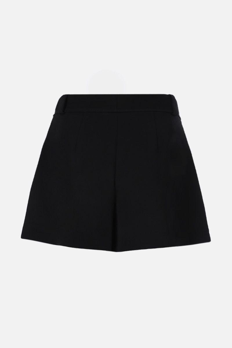 CHLOÈ: crepe darted shorts Color Black_2