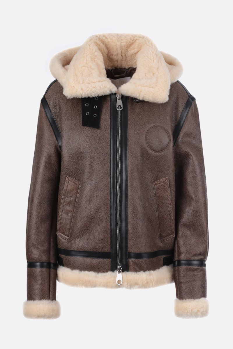CHLOÈ: shearling aviator jacket Color Neutral_1
