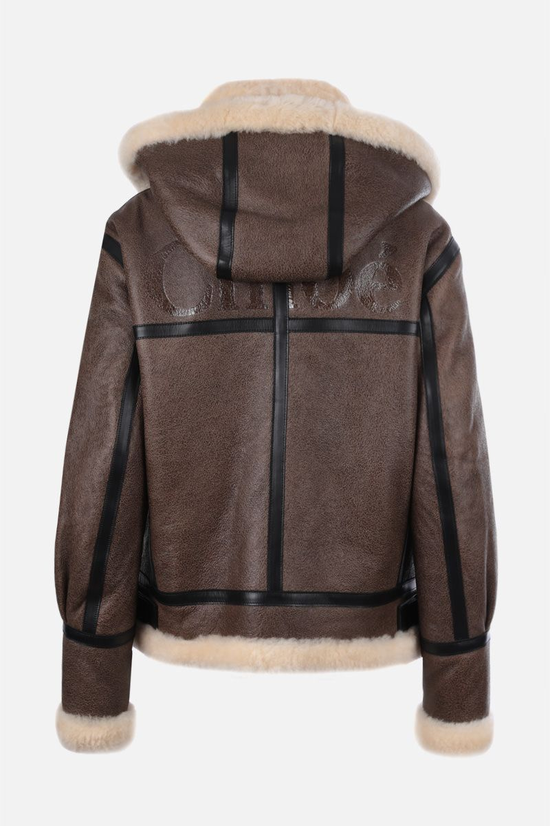CHLOÈ: shearling aviator jacket Color Neutral_2