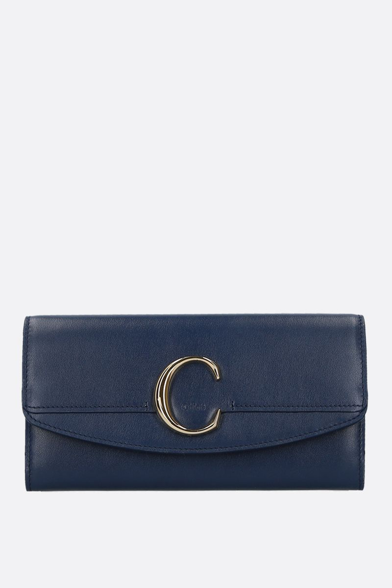 CHLOÈ: Chloè smooth leather flap wallet_1