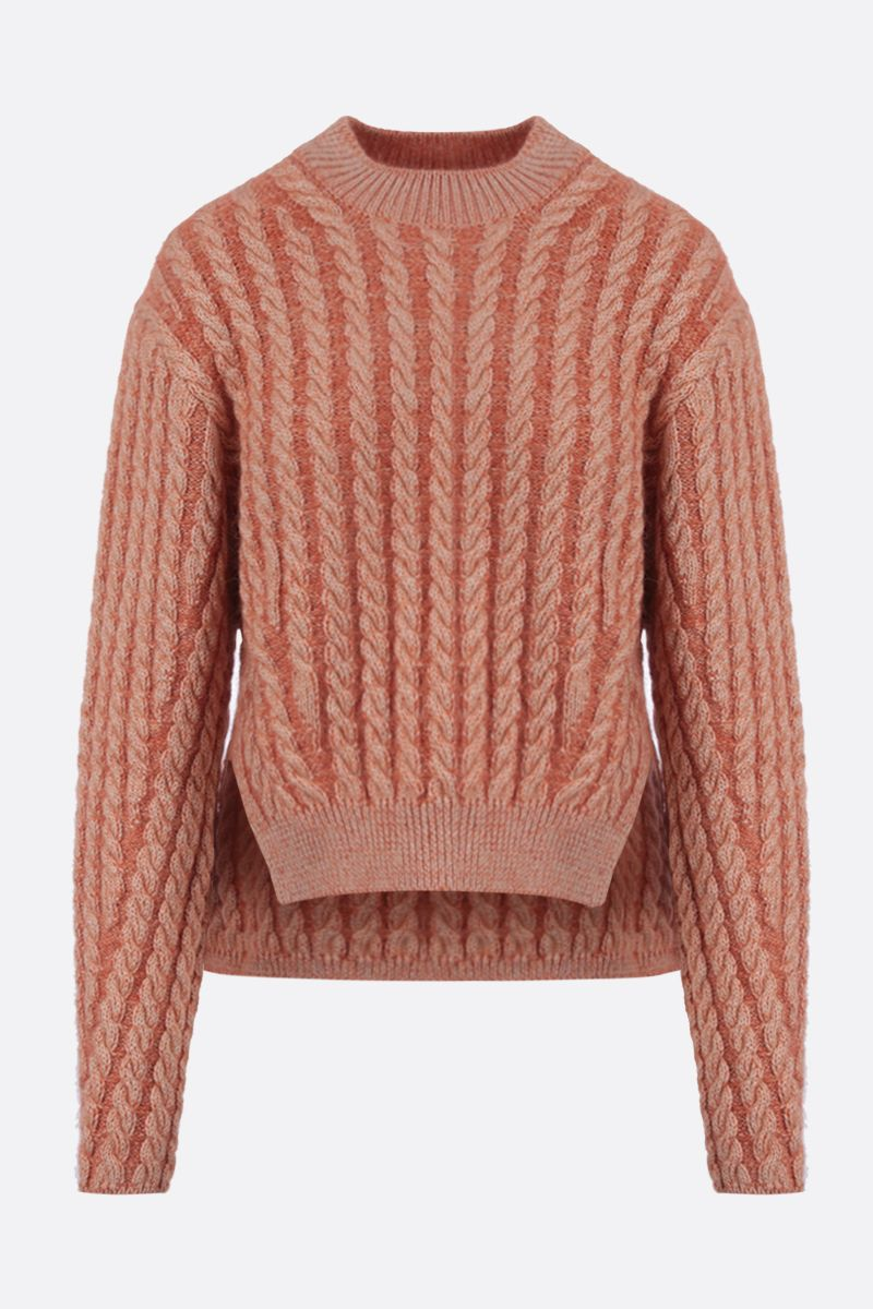 CHLOÈ: cable-knit wool blend pullover_1