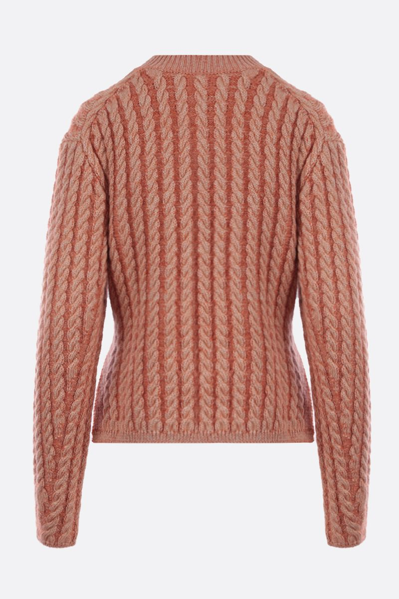 CHLOÈ: cable-knit wool blend pullover_2