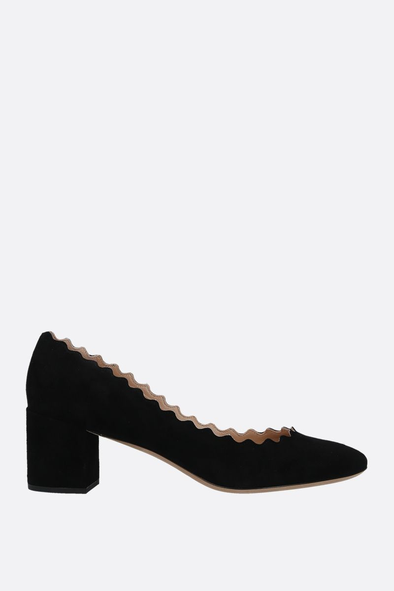 CHLOÈ: Lauren suede pumps Color Black_1