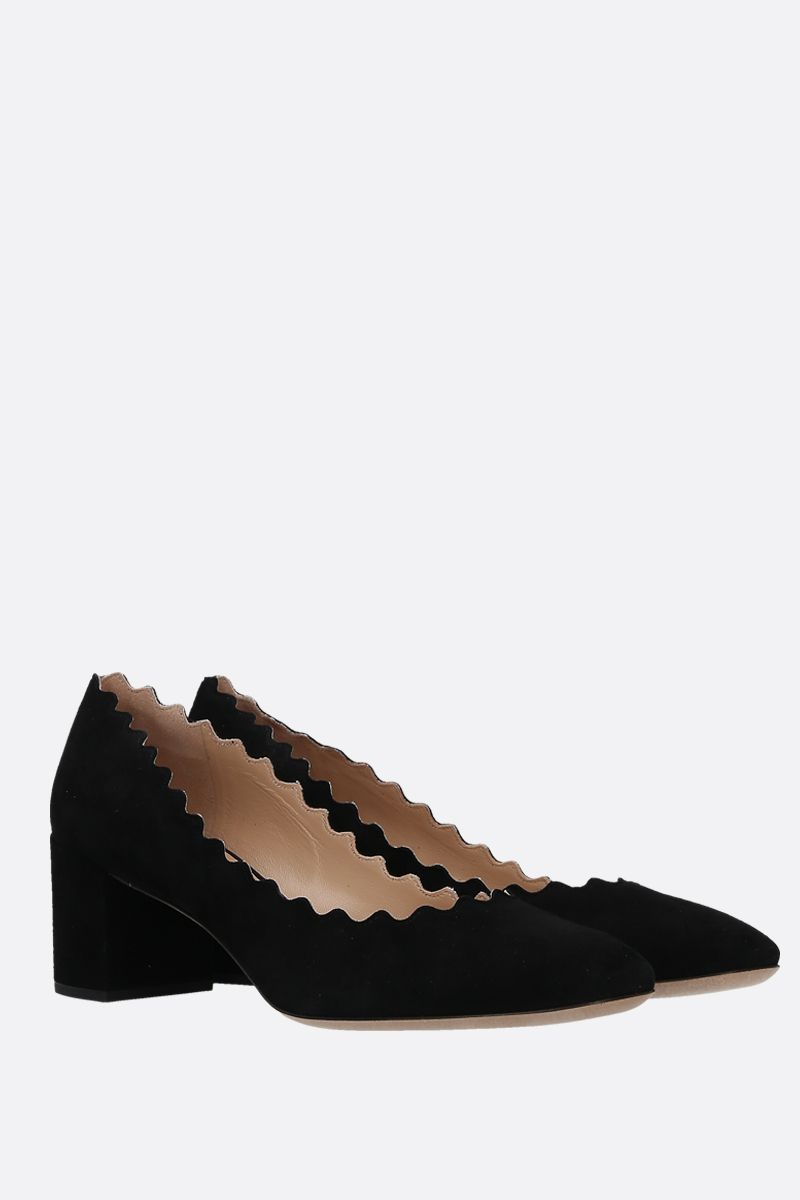 CHLOÈ: Lauren suede pumps Color Black_2