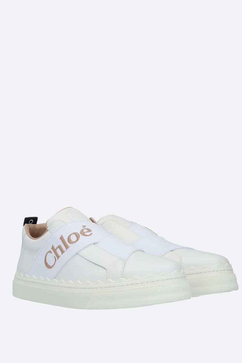 CHLOÈ: Lauren smooth leather slip-on sneakers Color White_2