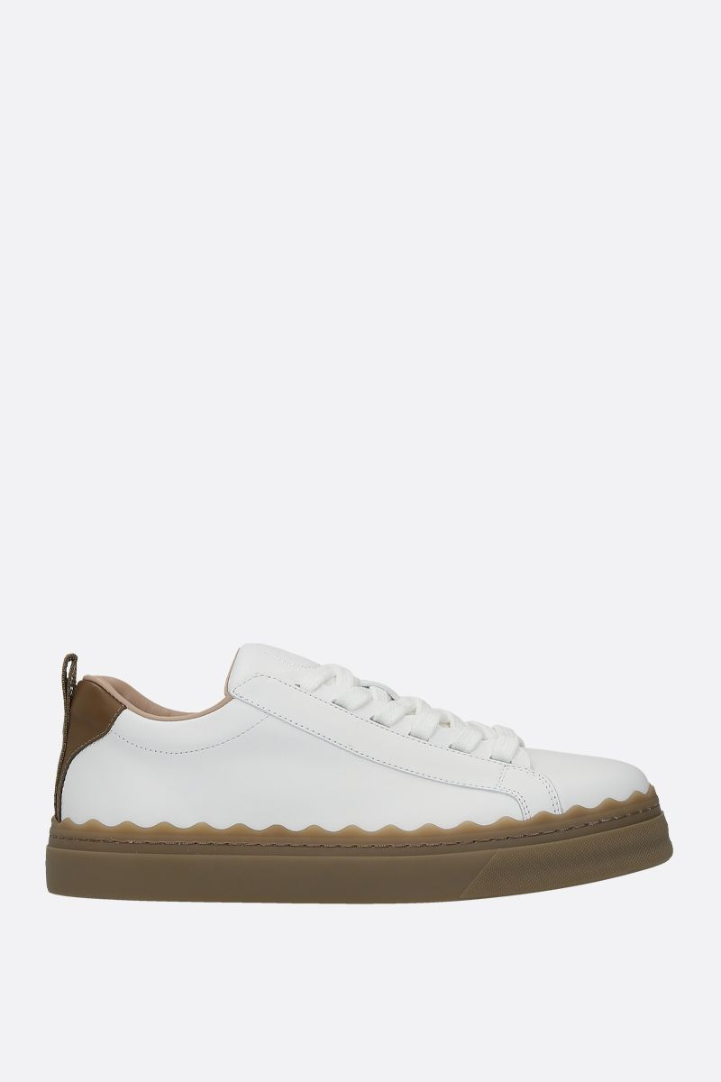 CHLOÈ: Lauren smooth leather sneakers_1