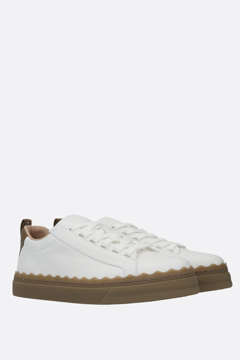 CHLOÈ: Lauren smooth leather sneakers_2