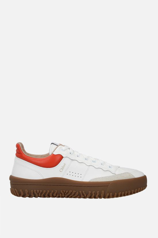 CHLOÈ: Franckie smooth leather sneakers Color White_1
