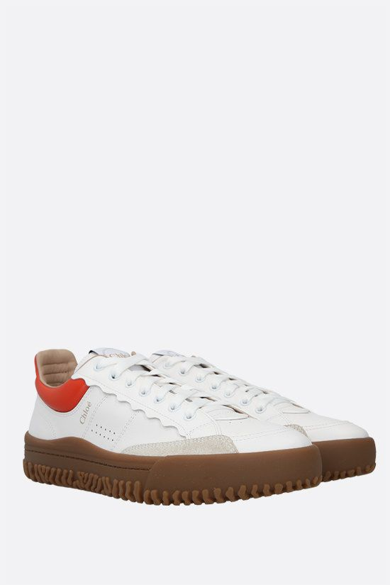 CHLOÈ: Franckie smooth leather sneakers Color White_2
