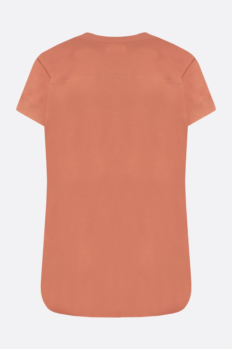 CHLOÈ: A system of Chloè obsessions print cotton t-shirt Color Orange_2