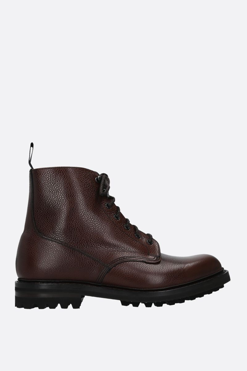 CHURCH'S: MC Duff grainy leather combat boots Color Brown_1