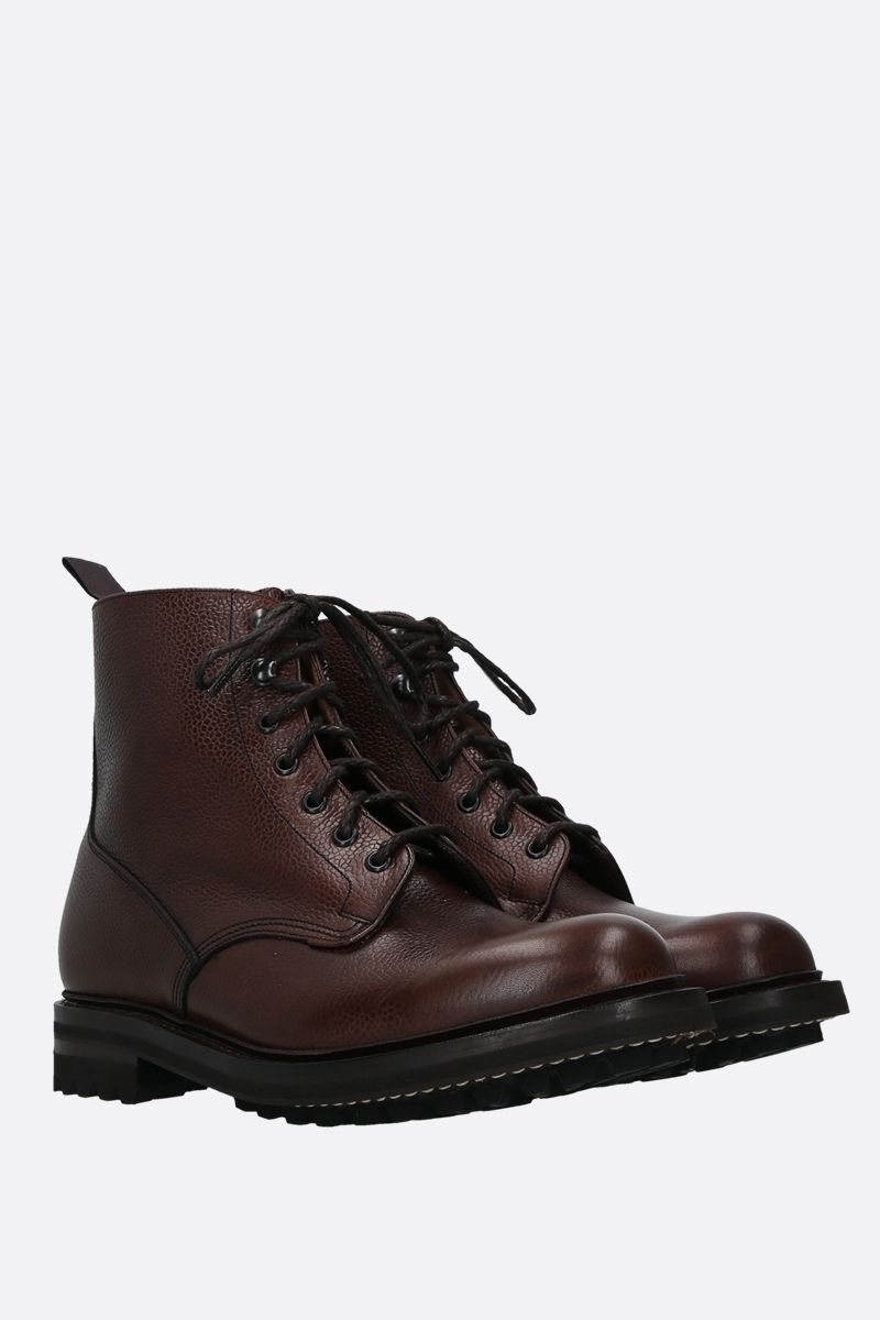 CHURCH'S: MC Duff grainy leather combat boots Color Brown_2