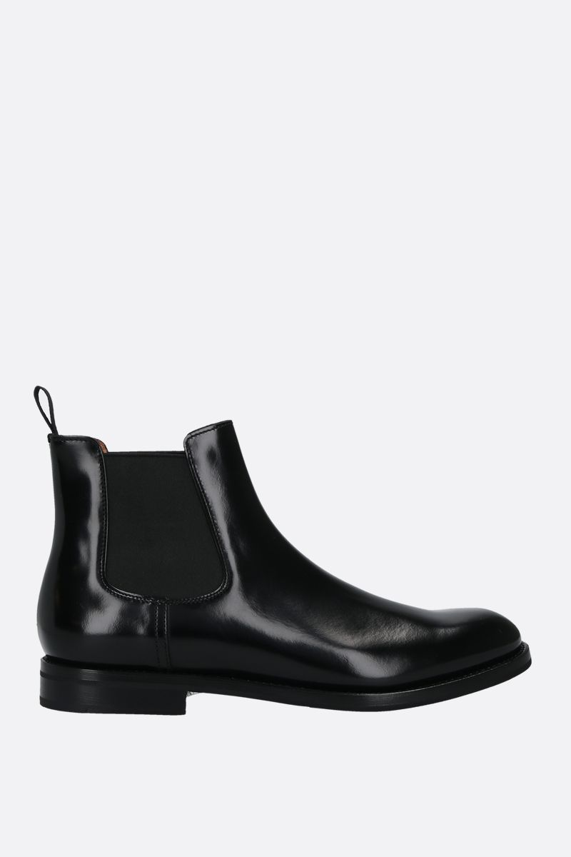 CHURCH'S: Monmouth shiny leather chelsea boots Color Black_1