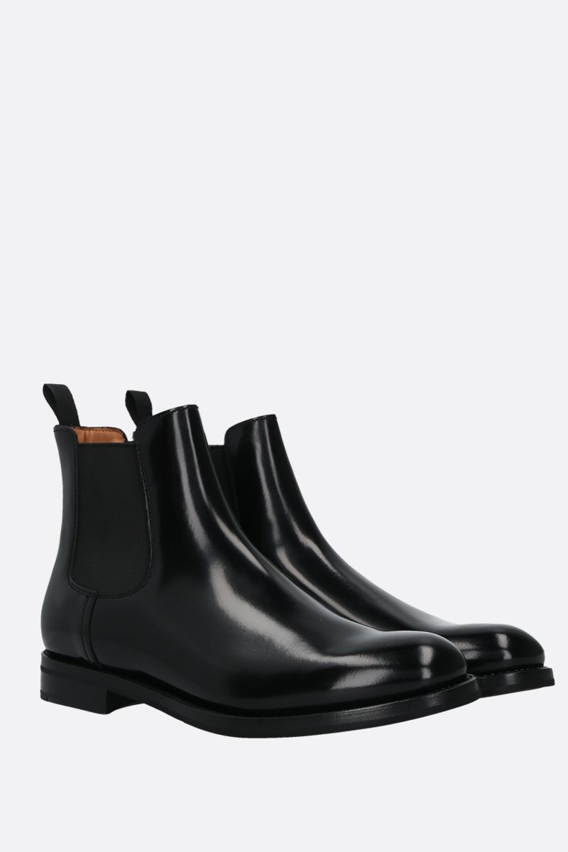 CHURCH'S: Monmouth shiny leather chelsea boots Color Black_2