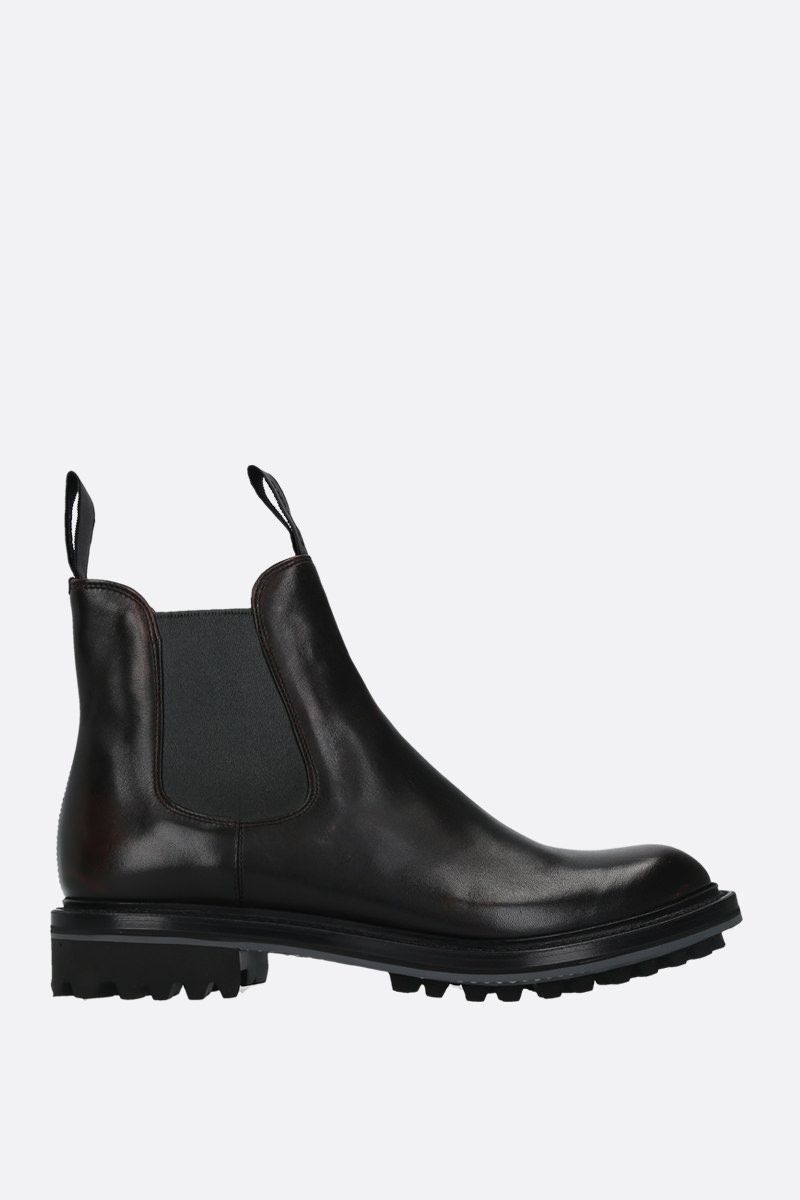 CHURCH'S: Genie chelsea boots in Monteria leather Color Black_1