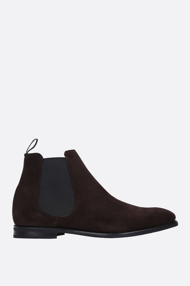 CHURCH'S: Prenton soft suede chelsea boots Color Brown_1