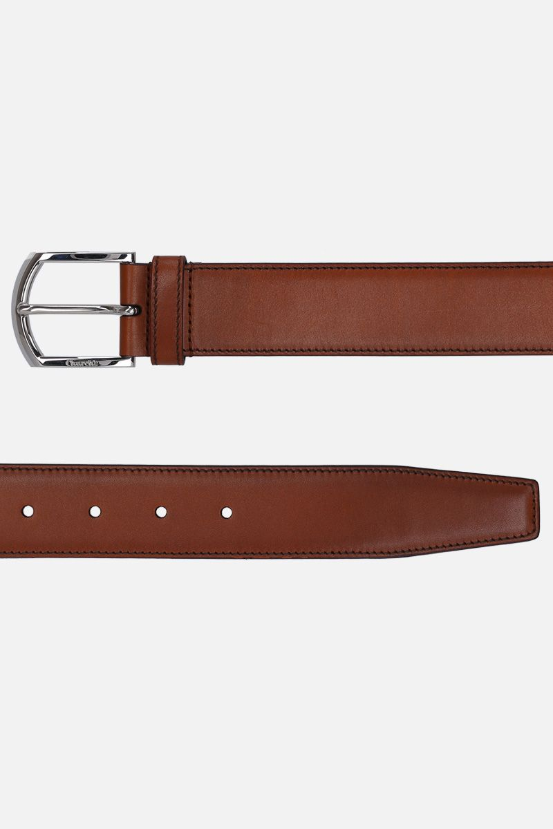 CHURCH'S: brushed calf classic belt Color Brown_2