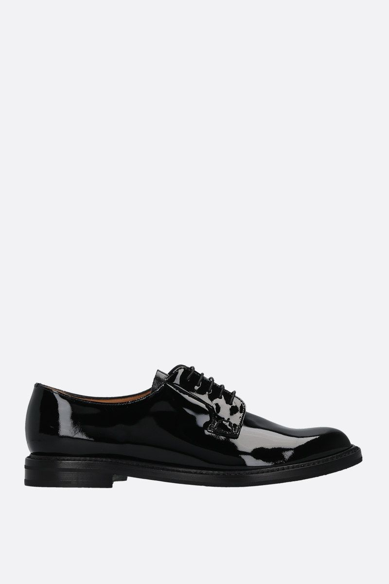 CHURCH'S: Shannon patent leather derby shoes Color Black_1