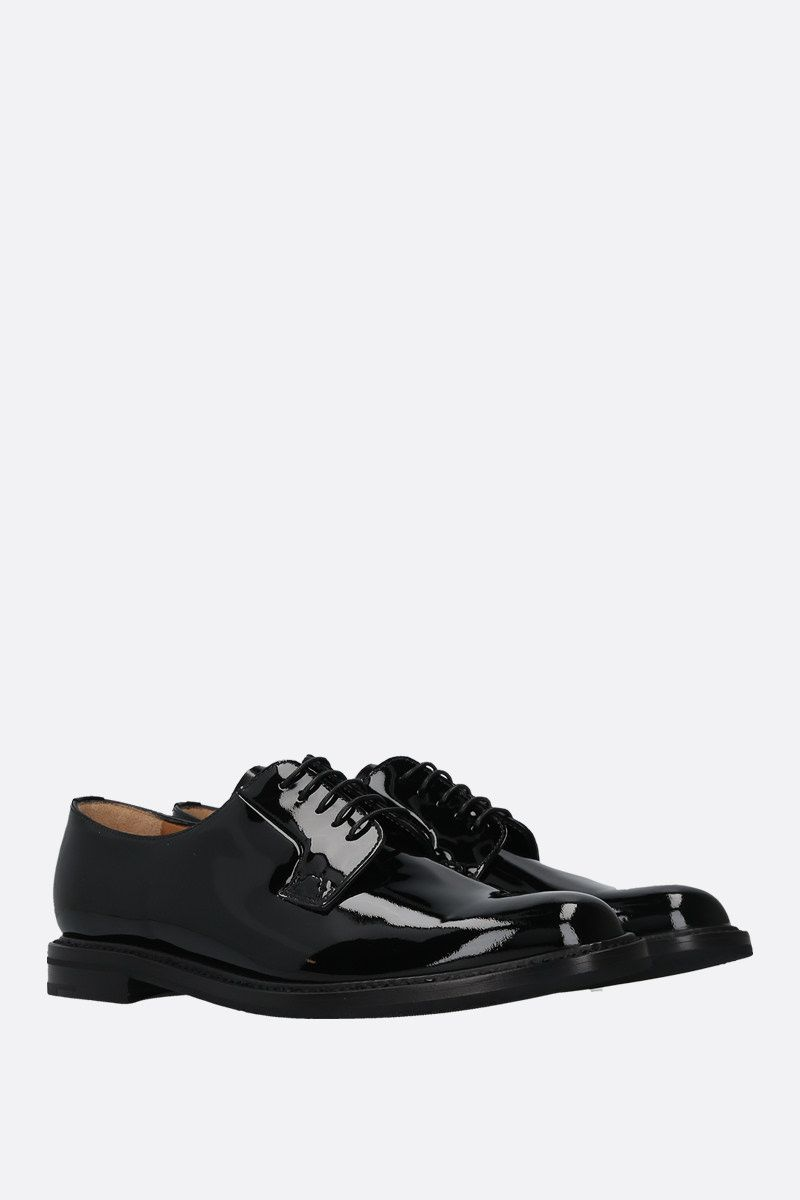 CHURCH'S: Shannon patent leather derby shoes Color Black_2
