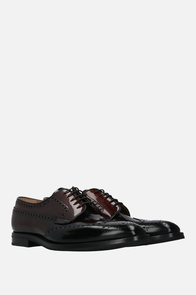 CHURCH'S: Grafton fumè shiny leather derby shoes_2