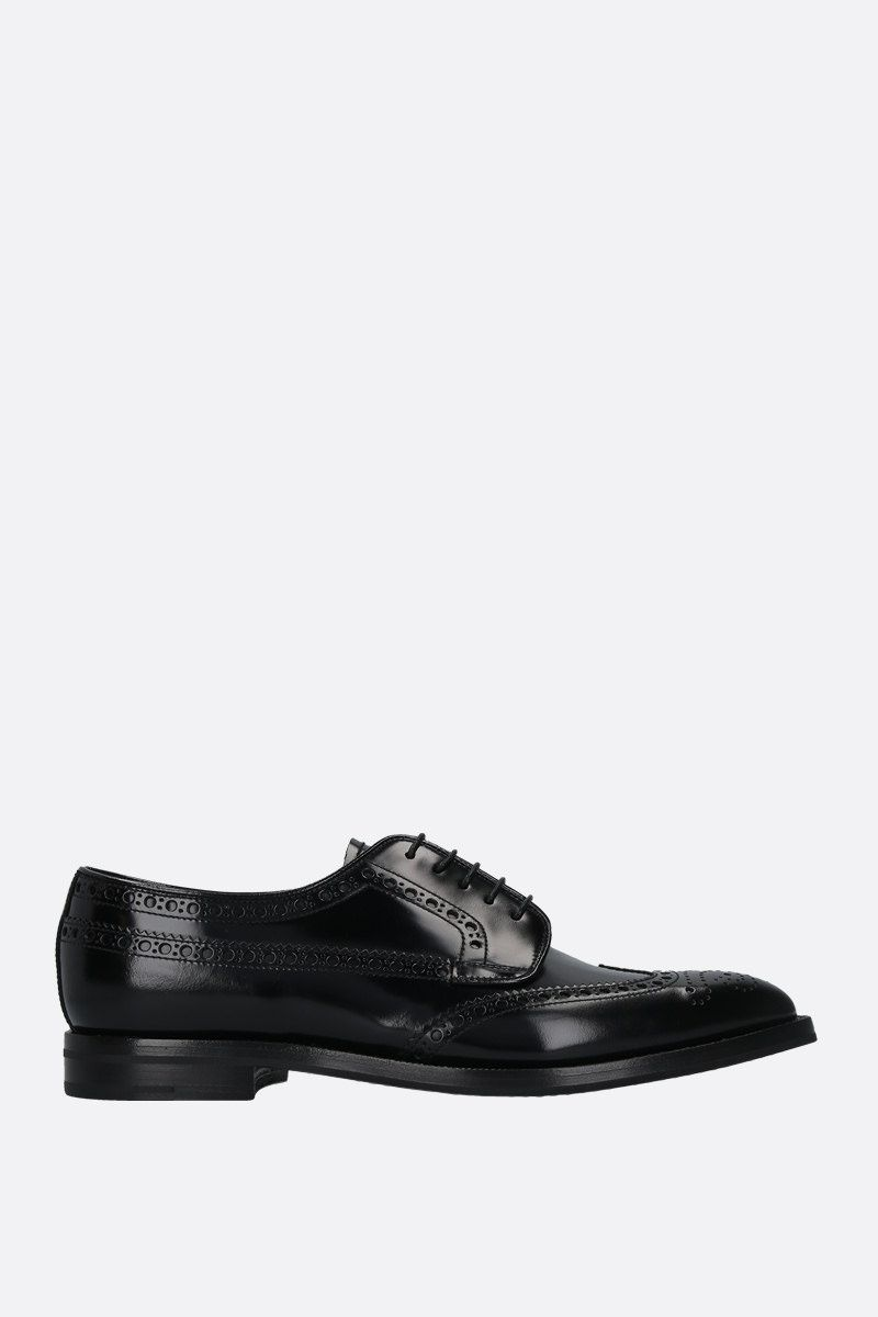 CHURCH'S: Grafton fumè shiny leather derby shoes Color Black_1
