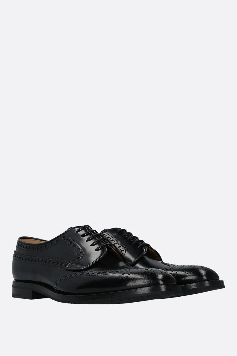CHURCH'S: Grafton fumè shiny leather derby shoes Color Black_2