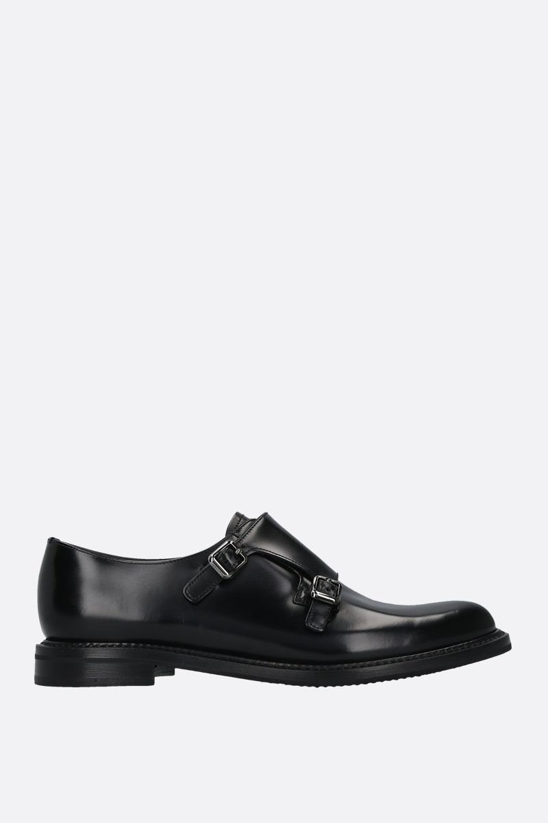 CHURCH'S: Lana shiny leather mon-strap shoes Color Black_1