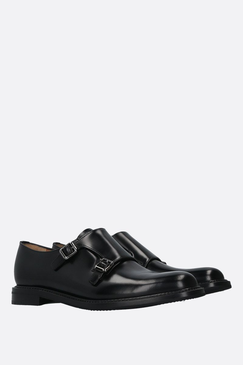 CHURCH'S: Lana shiny leather mon-strap shoes Color Black_2