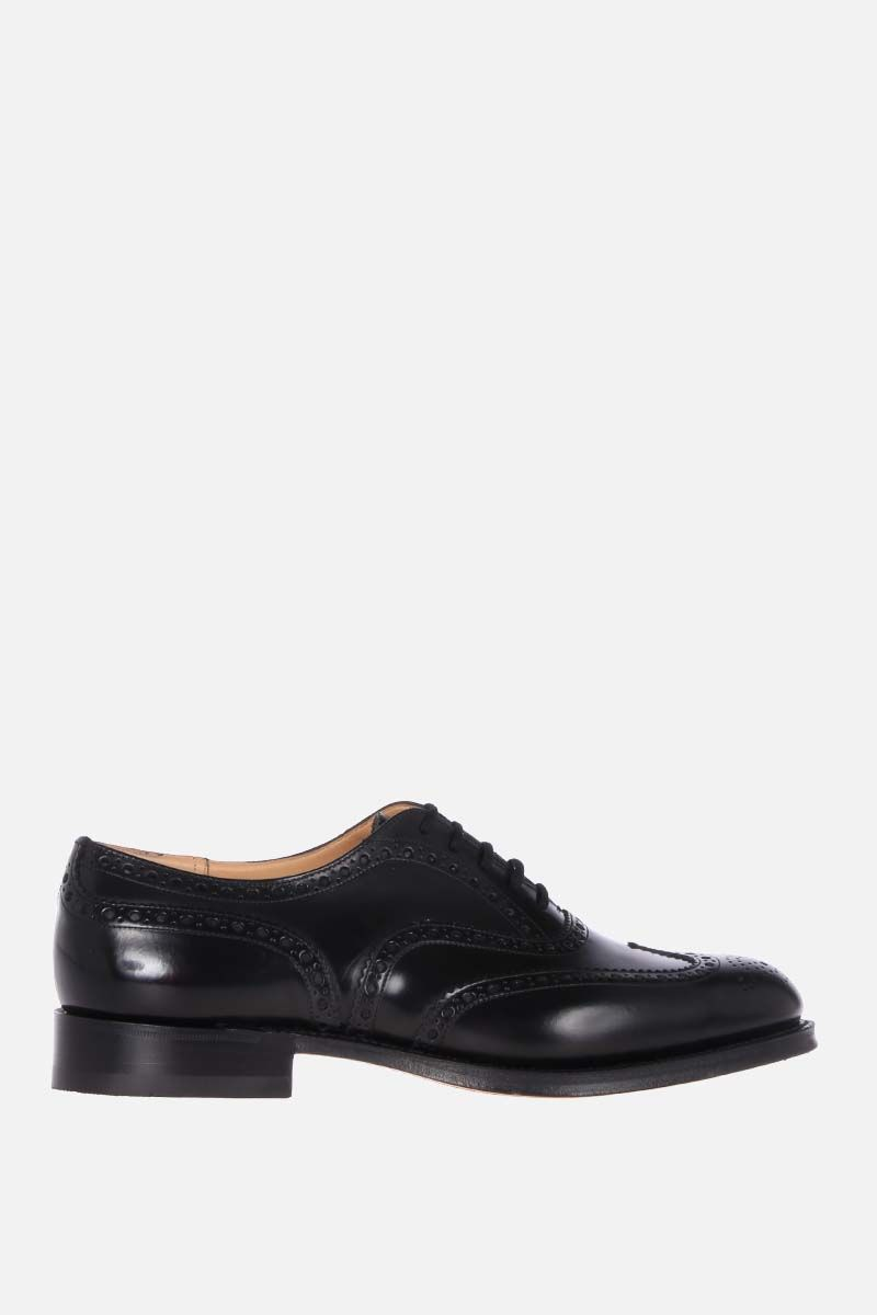 CHURCH'S: Burwood oxford shoes in brushed calf Color Black_1
