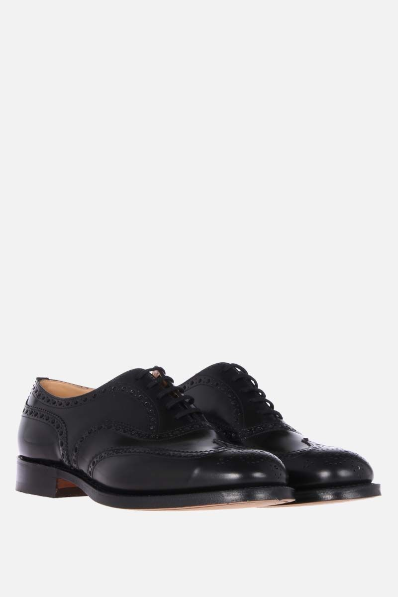 CHURCH'S: Burwood oxford shoes in brushed calf Color Black_2