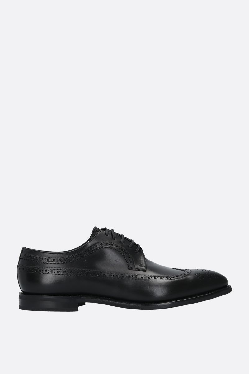 CHURCH'S: Portmore smooth leather derby shoes Color Black_1