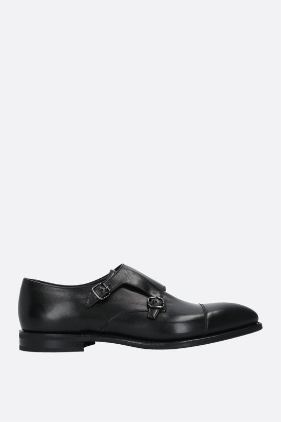 CHURCH'S: Saltby monk strap shoes in shiny leather Color Black_1