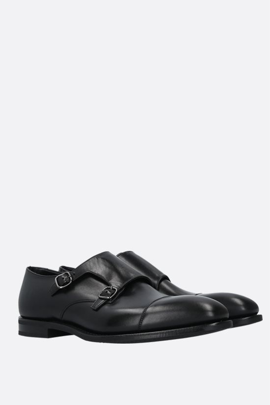 CHURCH'S: Saltby monk strap shoes in shiny leather Color Black_2
