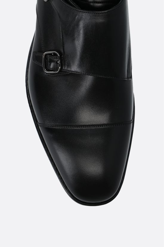 CHURCH'S: Saltby monk strap shoes in shiny leather Color Black_4