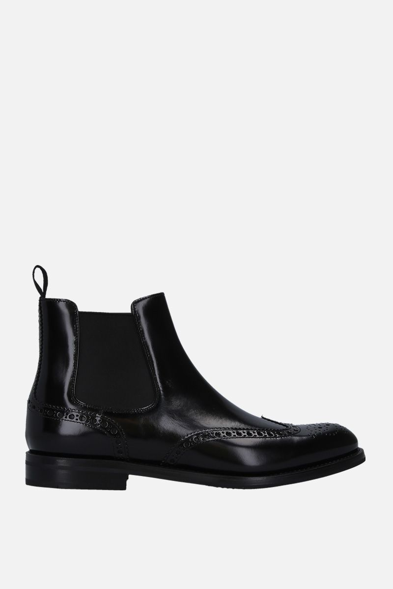 CHURCH'S: Ketsbyin brushed calf chelsea boots Color Black_1