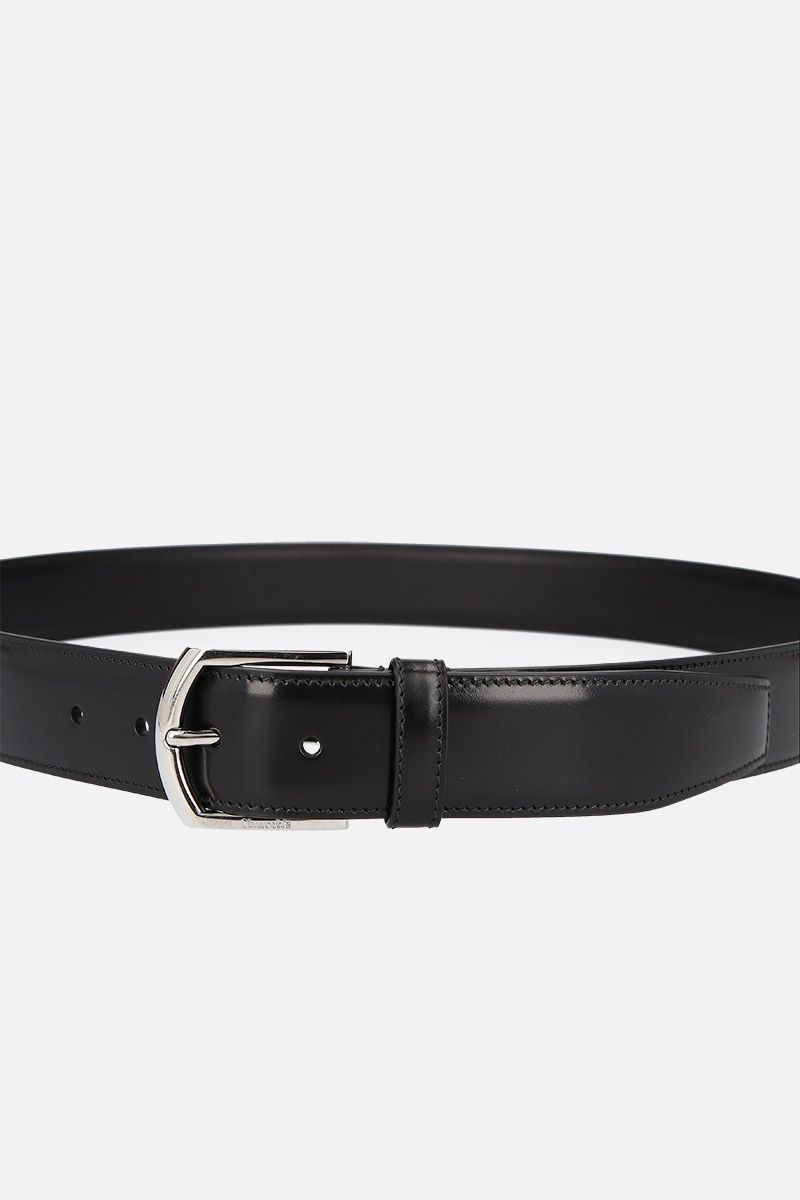 CHURCH'S: brushed calf classic belt Color Black_3