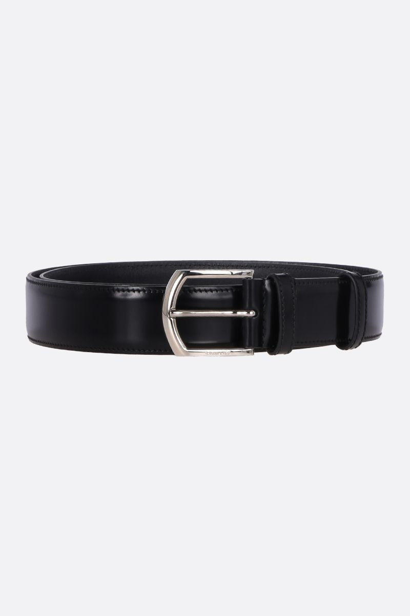 CHURCH'S: brushed calf classic belt Color Black_1